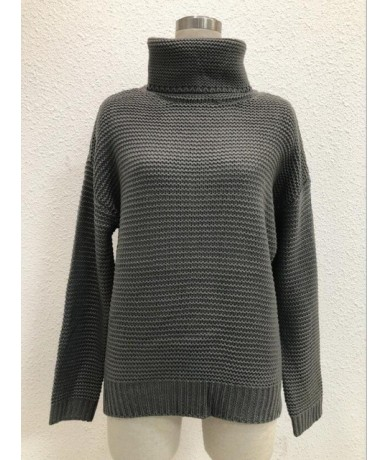Coarse Pullover Women's Jumper Turtleneck Red Sweater Jumper Warm Christmas Sweater thick Winter Cable Knitted Oversized Swe...