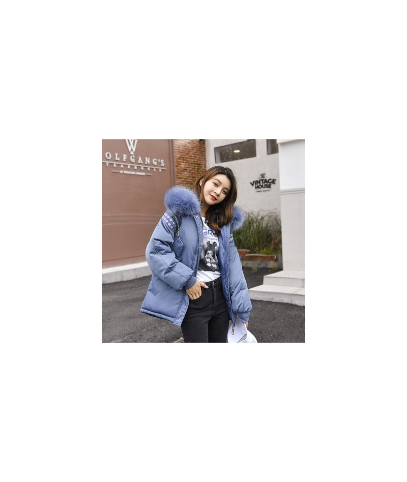 Beige long sleeve with zipper ribbon casual thick parka overcoat Winter warm fashion outerwear bread coats 2019 7 color 8895...