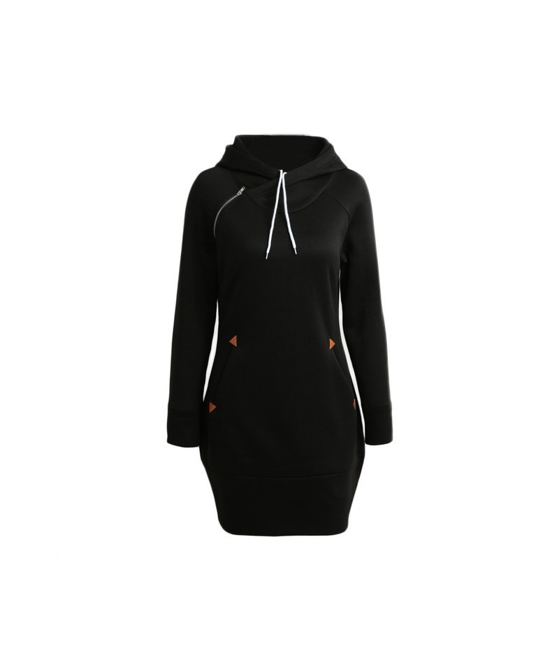 5XL Plus Size Long Hoodie Fashion Women Autumn Winter Clothes Long Hooded Coat Long Sleeve Pocket Zipper Top Casual Warm Hoo...