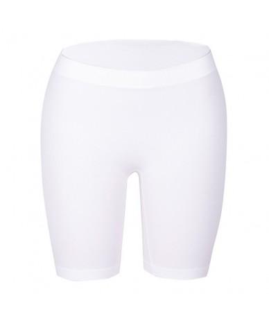 Women's Fashion Short Leggings Basic Leggings Smooth High Elasticity Plus Size Knee Length Solid Colors Leggings S-2XL - Whi...