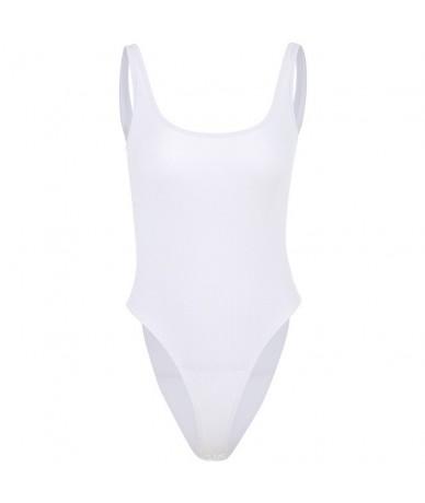 Summer White Sleeveless Bodysuit Women Vest Casual Romper Body Suit Female Bodycon Elegant Backless Bodies Ladies Top - Whit...
