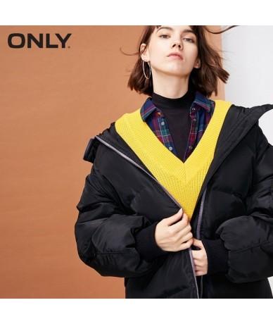 Women's Pocket Hooded Cotton Jacket 118322520 - Black - 4B3062604274-1