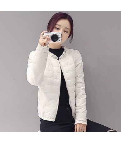 Solid Ruffles Women Winter Coat 2019 Korean New Fashion Padded Jacket Long Sleeve Casual Outwear Wadded Coats 65580 - 65580 ...