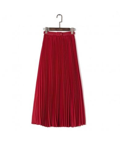 Elegant Women Long Skirt Bohemian High Waist Chiffon Skirt With Belt Beach Pleated Skirts Solid Tulle Maxi Saias Pink Blue K...