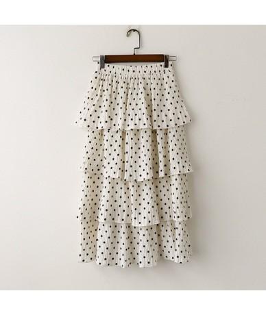 Spring Summer Skirt Women's Skirt Sweety Korean Style Asian Style New 2019 - White - 4P4118766537-2