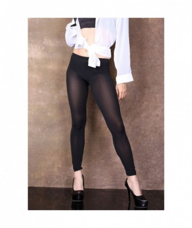 Plus Size Ice Silk Wetlook Transparent Black Leggings Wome Pencil Pant Wet Look Fitness Legging Palazzo Pants Joggers Pantal...