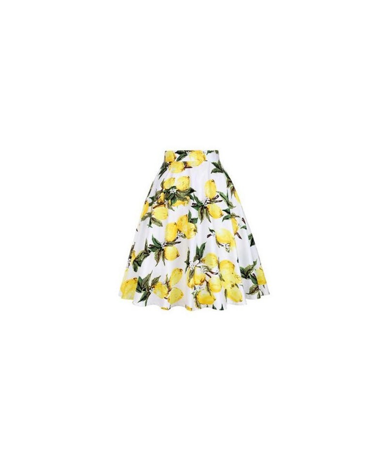 Women Midi Pleated Skirts Vintage 50s 60s Flower Printed Summer Skirts Ball Gown High Waist Audrey Hepburn Swing Skirts 2018...