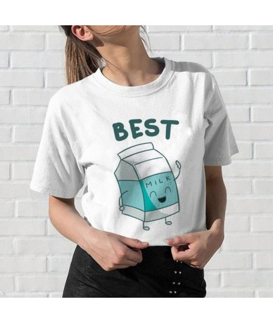 Newest Best Friends T Shirt Women Harajuku Kawaii BFF T-shirt 90s Graphic Cartoon Tshirt Funny Fashion Top Tees Streetwea Fe...
