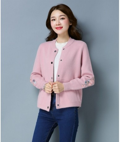 Cashmere Sweater Women 2018 New Spring Brand Embroidery Long-sleeved Cardigans Coat Female Casual Cardigan Wool Sweaters Jac...