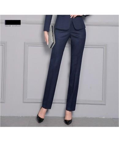 Women Formal Pants 2019 Autumn High Waist Ladies Straight Office Trousers Work wear Big Plus Size S~4XL 5XXXXXL Pantalon Fem...