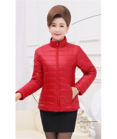 Middle Aged Winter Jacket Women Down cotton Slim Warm Parka Outerwear Womens 2019 Short Thin Cotton-padded Tops Plus Size 5X...