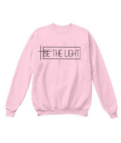 BE THE LIGHT Women Sweatshirt and Hoodies Pullover Crewneck Long Sleeved Harajuku Streetwear Faith Tumblr Christian Clothes ...