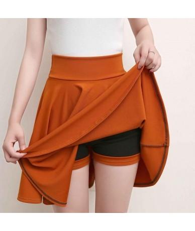 Plus Size 4XL Shorts Skirts Womens 2018 Summer A line Sun School High Waist Pleated Skirt Female Korean Elegant Skirt - YELL...