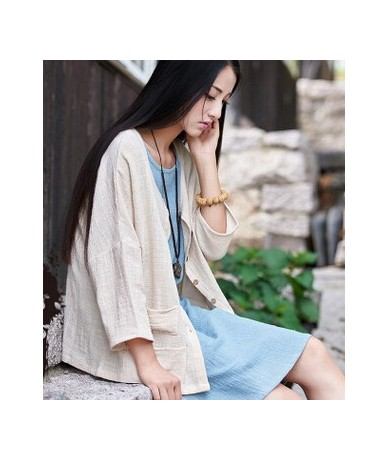 Women Blouses Summer Thin Coat Long Sleeve Women Shirts Open Stitch Solid Color Casual Outwear Loose Vintage Blusa Feminina ...